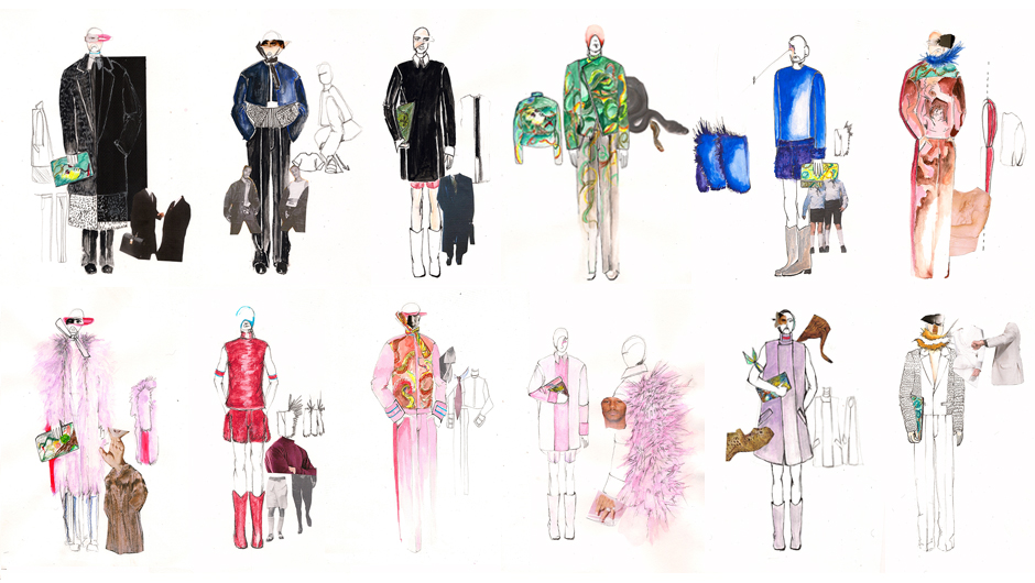 Fashion designs by Dimitri Arvanitis