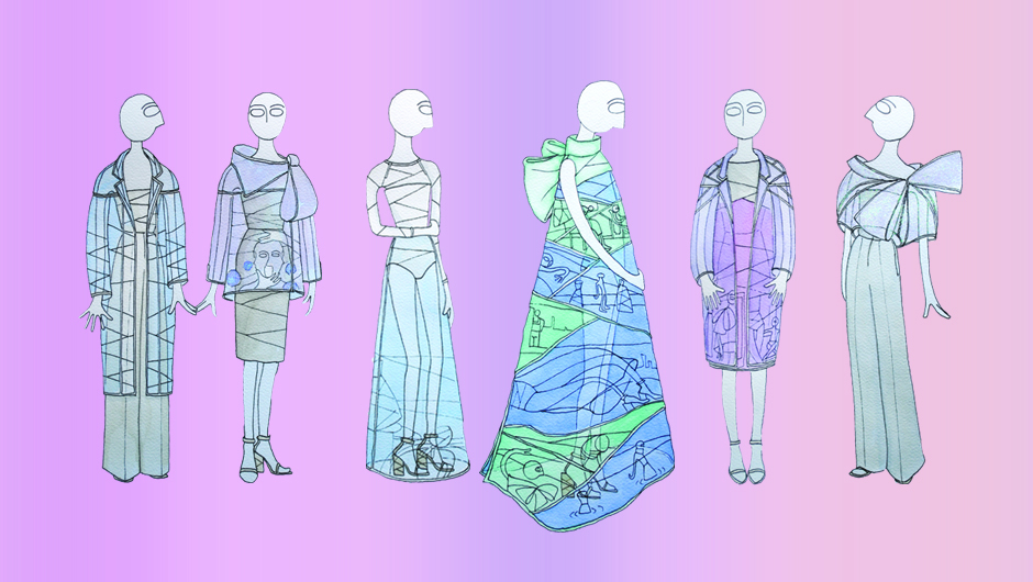 Fashion designs by Wim Bruynooghe